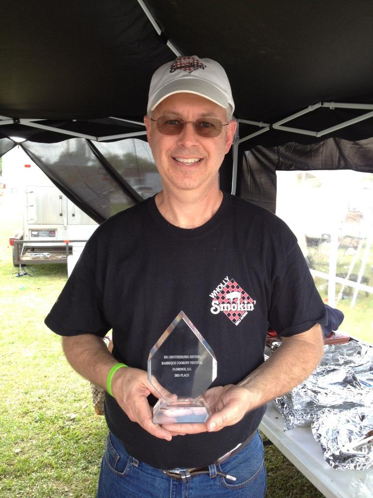 Bill Travis with Trophy